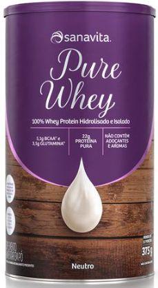 Pure whey Sanavita sabor neutro 375 g