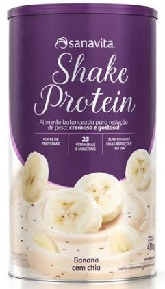 Shake protein sabor banana com chia 450 g