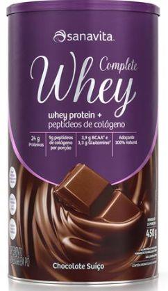 Complete whey Sanavita sabor chocolate suíço 450 g