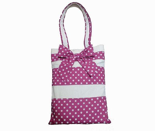 Bolsa sacola Minnie rosa