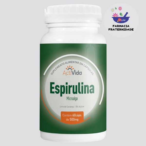 Espirulina 500 mg 60 Cápsulas