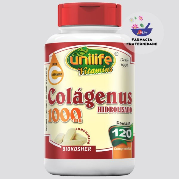 Colágenus Hidrolisado 1000 mg com Vitamina C 120 Comprimidos