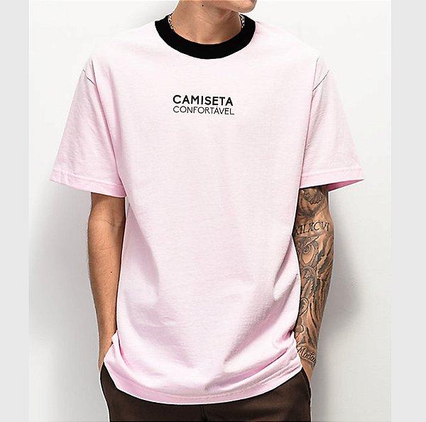 Camiseta Haze Wear X MC IGU Camiseta Confortável Rosa