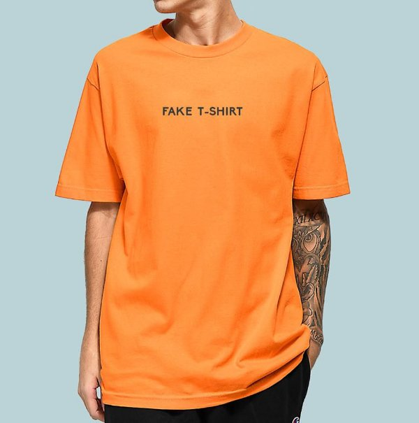 Camiseta Haze Wear Fake T-SHIRT Laranja