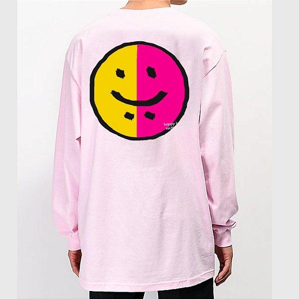 Camiseta HAZE wear Happy & Sad Manga Longa