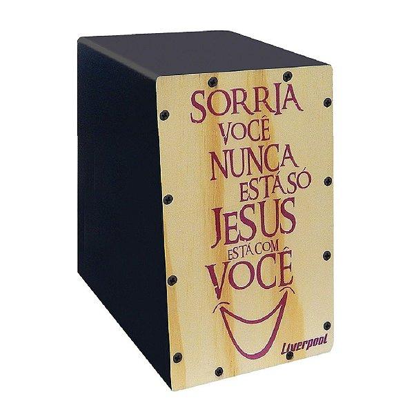 MINI CAJON LIVERPOOL SORRIA VOCÊ NUNCA ESTÁ SÓ. JESUS ESTÁ COM VOCÊ - CAJ SOR
