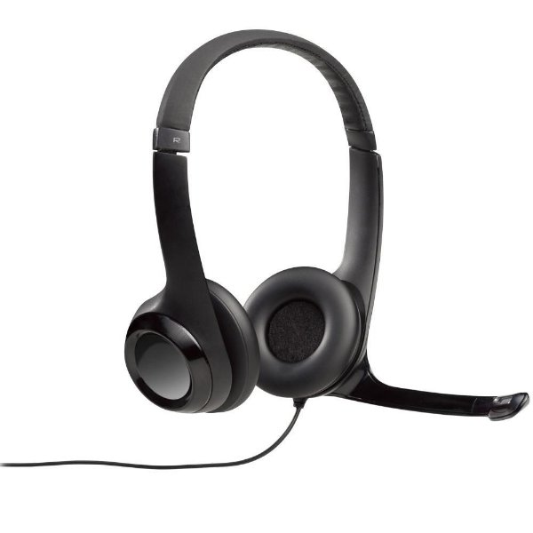 HEADSET LOGITECH ÁUDIO DIGITAL EM COURO USB PRETO H390