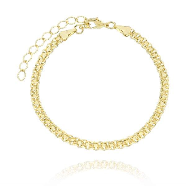 Pulseira Feminina dourada folheada em ouro 18k