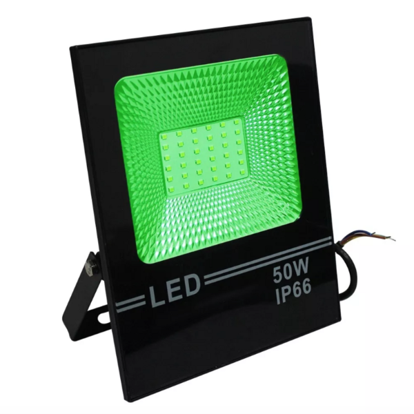 Refletor Led Verde 50W Slim SMD