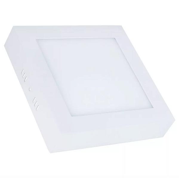 Kit 10 Painel Plafon Led Branco Quente 12w Quadrado Sobrepor