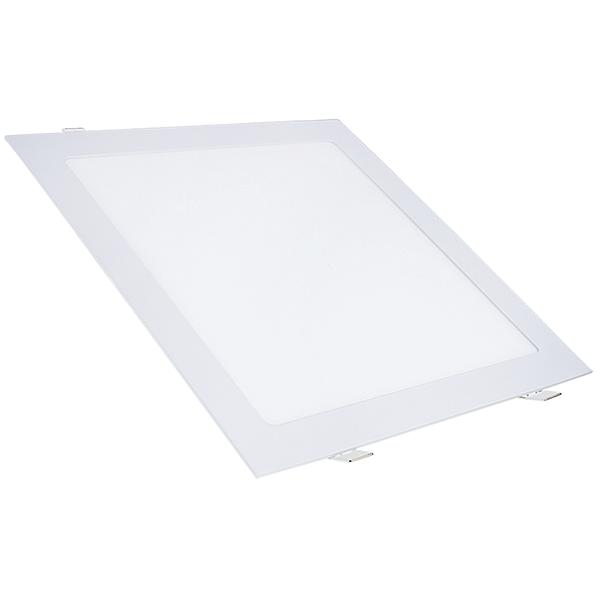 Kit 2 Painel Plafon Led Branco Quente 25w Quadrado Embutir