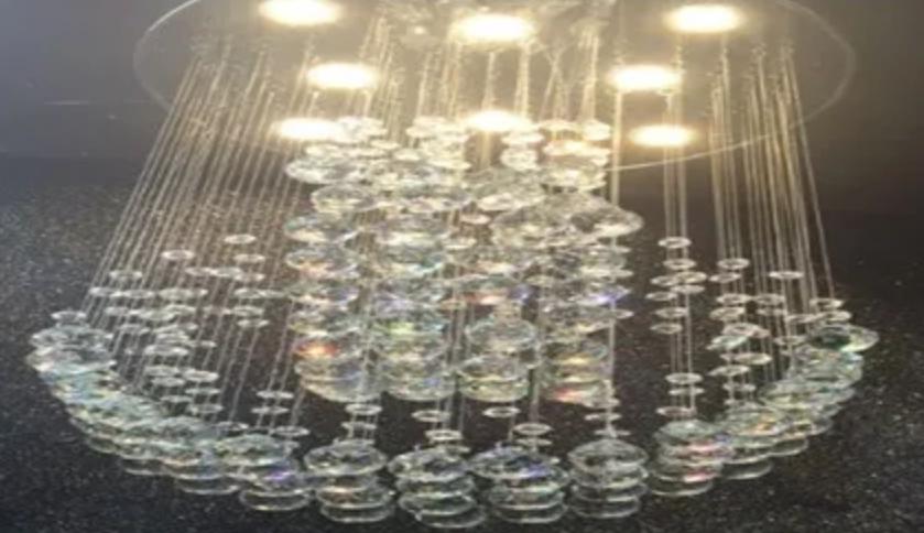 Lustre Luminária Led de Cristal Pendente para Sala de Jantar