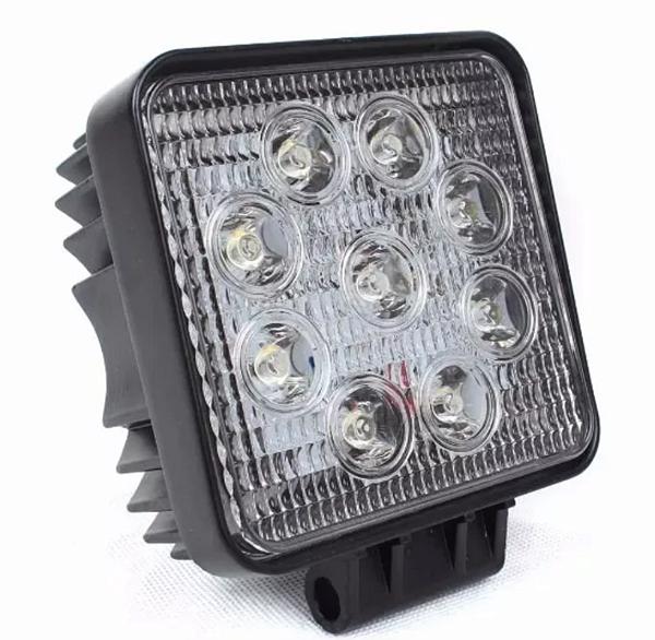 Farol de Milha LED Quadrado Universal 27w 12v