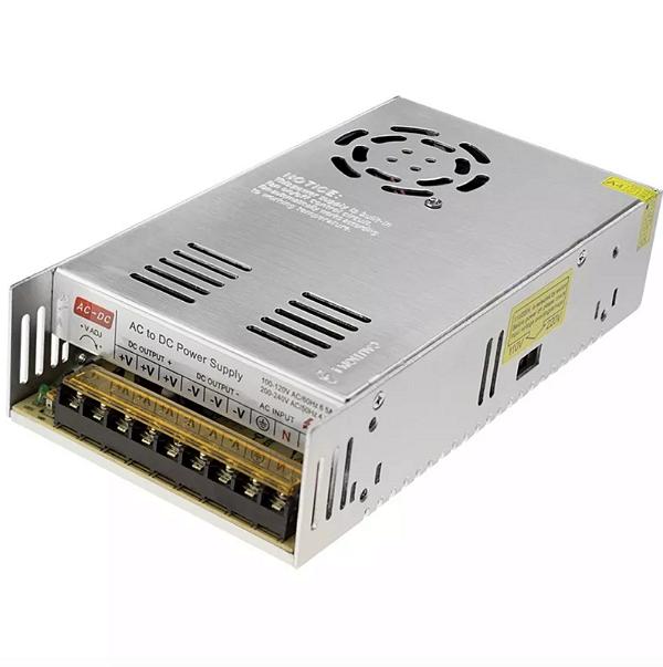 Fonte Chaveada 50a 12v 600w Com Cooler para CFTV LED Som Automotivo