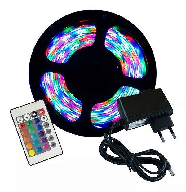 Fita de Led RGB com Controle e Fonte 3A - 3528