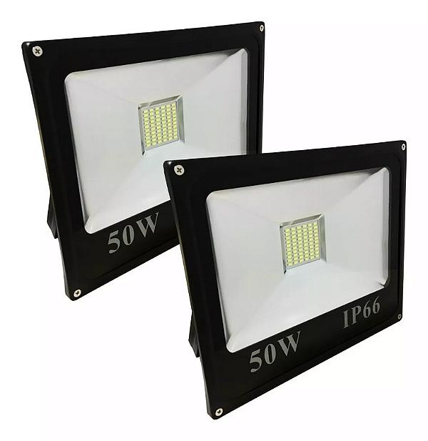 Kit 5 Refletor LED Holofote 50w Branco Frio IP65