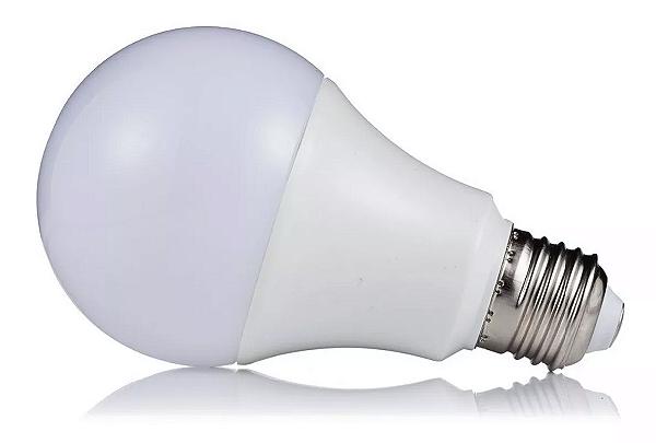 Kit 10 Lâmpada LED 5w Bulbo Plástico Econômico Branco Frio