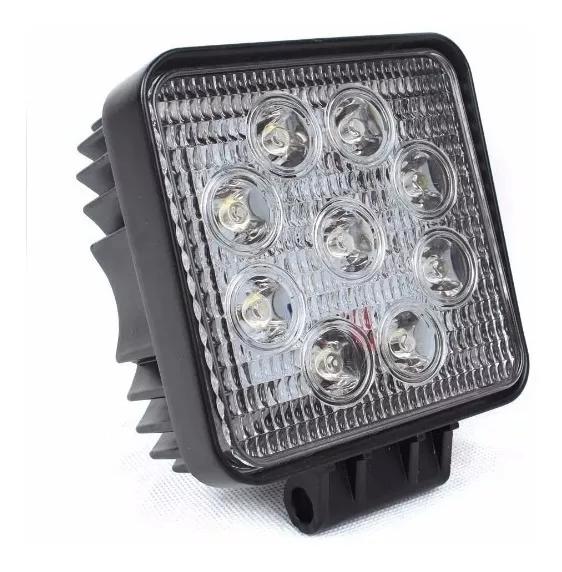 Kit 3 Farol de Milha LED Quadrado Universal 27w 12v