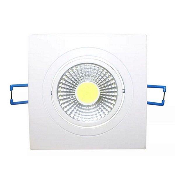 Spot LED Embutir 5w Direcionável Quadrado Branco Frio