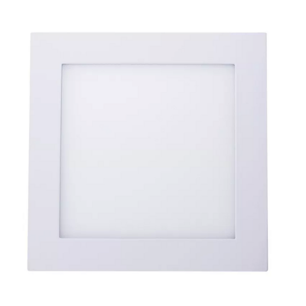 Plafon Led 12w Quadrado Sobrepor - Branco Frio