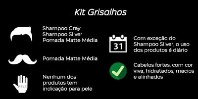 indicação de uso do kit para homens grisalhos