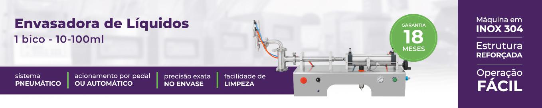 imagem com foto, nome e os diferenciais da envasadora de líquidos 10-100ml