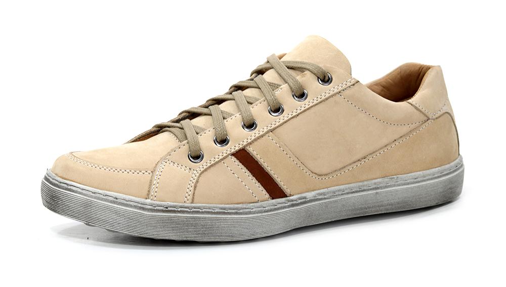 b521d143a Sapatênis Zaper Taupe - Loja Orlandelli Calçados - Sapatos Masculinos