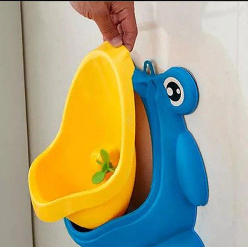 07576a5fb ... Mictório Sapinho Azul Amarelo (Ajuda no desfralde) - Imagem 3