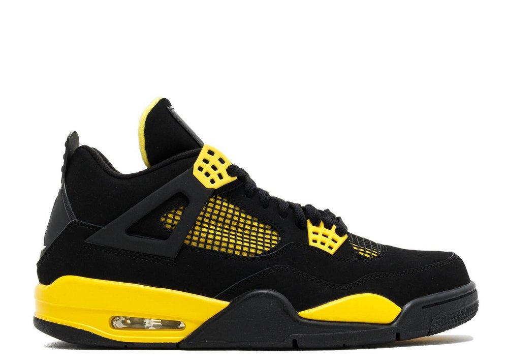 tenis-air-jordan-4-retro-preto-e-amarelo