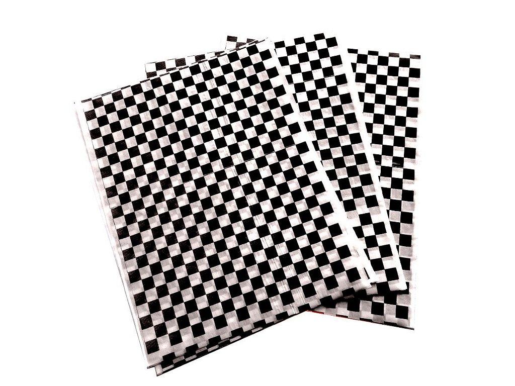 Papel Acoplado 30x38 Cm 500 Folhas Xadrez Preto E Branco