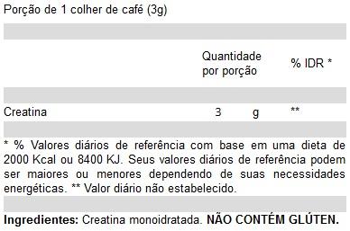 tabela-nutricional-creatina-100-Pure-Atlhetica-Nutrition