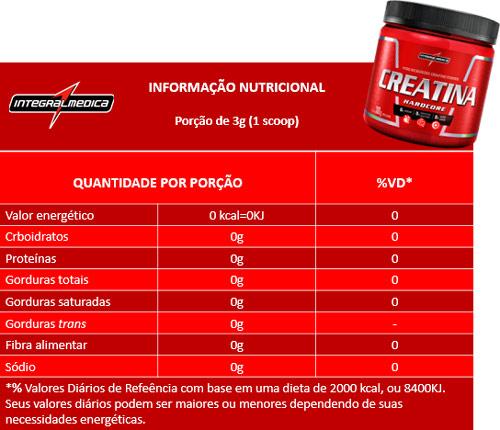 tabela-nutricional-creatina-hardcore-integralmedica-300g