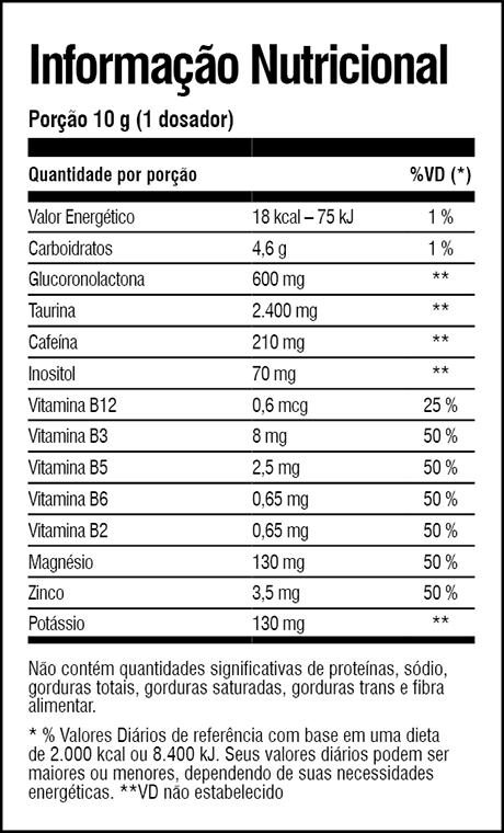 tabela-nutricional-pre-treino-minotauro-iridium-labs-melancia