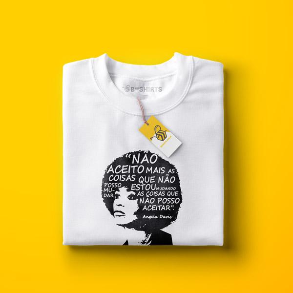 Camiseta Angela Davis - Exemplo de Luta e força Feminista