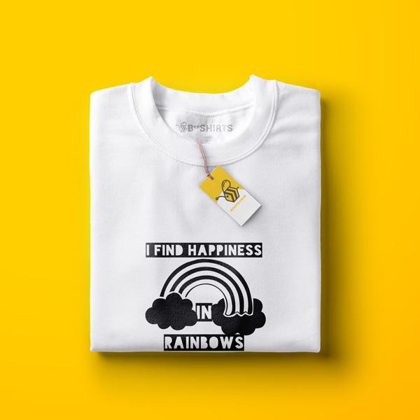 Camiseta Arco-Íris - I Find Happiness In Rainbows