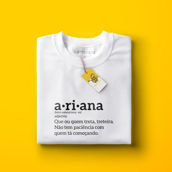 camiseta áries - signo áries - Ariana