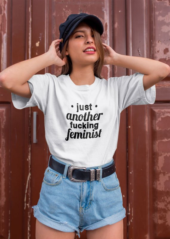 Camiseta Feminista Tumblr - Just another fckng feminist