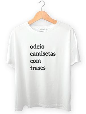 Camiseta com Frase Engraçada