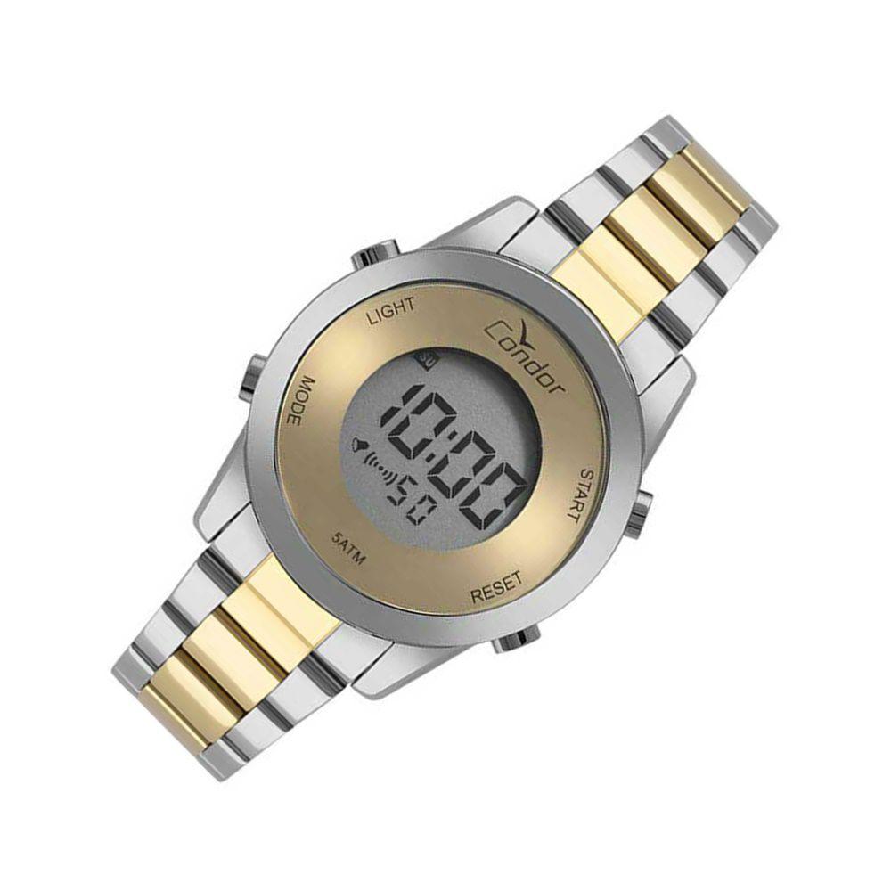 73bf27ab9d5 Relogio Feminino Digital Prata com Dourado Condor - Relojoaria Jabem