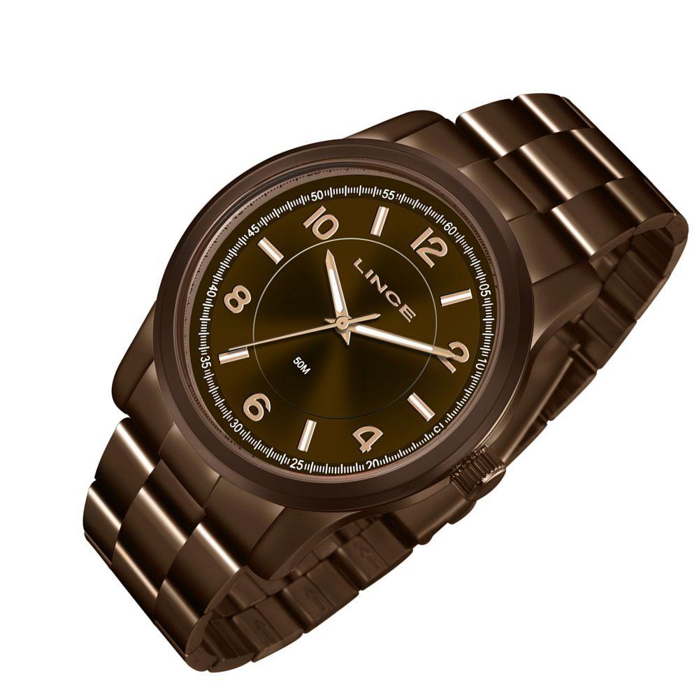 814ceb893b4 Relogio Feminino Lince Marrom Chocolate Lrbj066l N2nx - Relojoaria Jabem