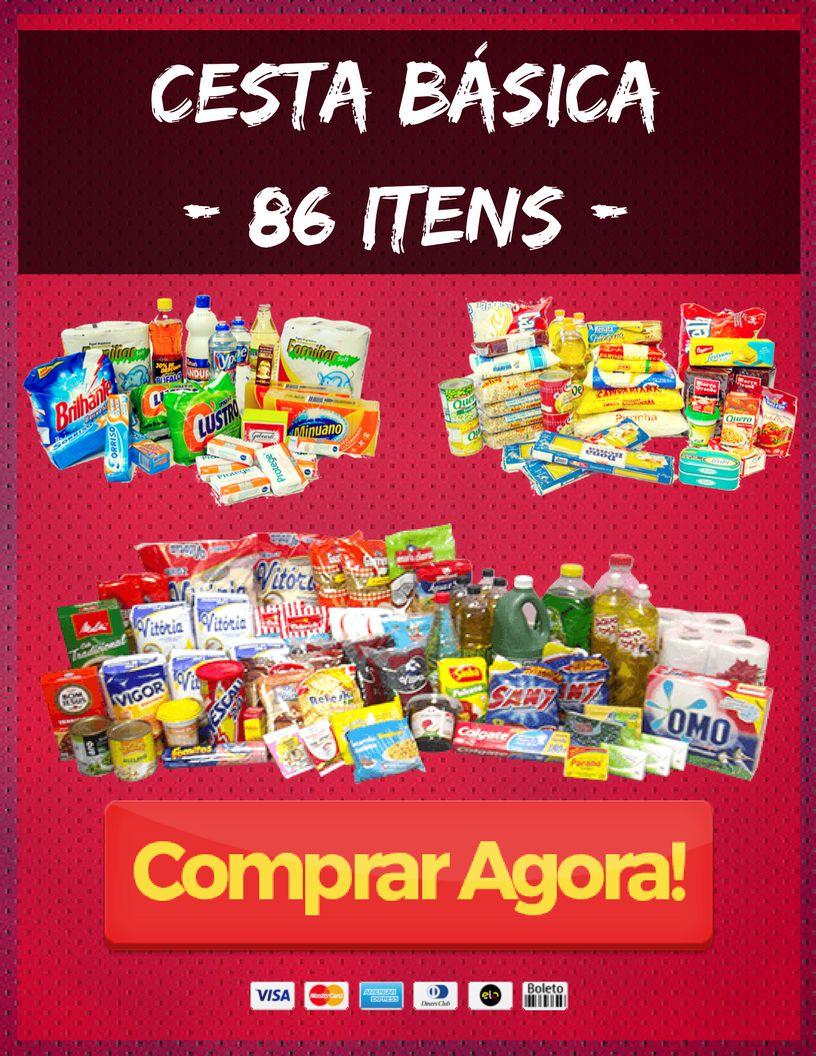 6177089f29 Cesta Básica Premium - 86 Itens - Alimentação, Higiene e Limpeza - Imagem 1  ...