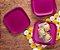 Tupperware Prato Post Me Rosa Kit 4 Peças - Imagem 1