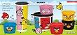 Tupperware Kit Angry Birds Colorido 7 peças - Imagem 1