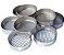 Peneira (Tamis) Granulométrica Em Aço Inox 8x2 polegadas, 35 Mesh, ASTM 40. - Imagem 1