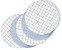 Membrana Mistura Ester de Celulose  47mmX0,45um,  pacote de 100 unid branca - superfice com grade marca CHEM-GOLD  - Imagem 1