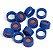 Tampa Para Vial, Screw, Blue, Ptfe/Red Silicone Septa, 100/Pk. Cap Size: 12 Mm Agilent 5182-0717 - Imagem 1