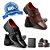 Kit 2 pares de sapato social + cinto e carteira grátis - Imagem 1