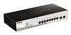 Switch D-link Gigabit com 8 portas 10/100/1000 Mbps PoE  DGS-1210-10P - Imagem 1