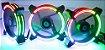Kit Fan Rise Mode Tornado com led Rgb Energy 3 Fans - Imagem 4