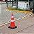 Cone de sinalização 75 cm - Base de borracha - Faixa refletiva - Imagem 3